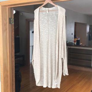 Sweaters - YETTS baggy oatmeal long cardigan in OS